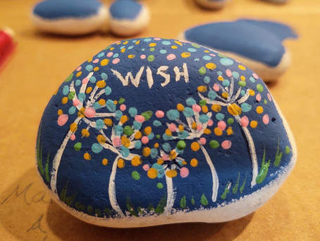 """Wish"" Painted Rocks"