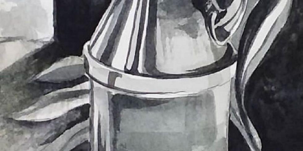 Мастер-класс по акварели Натюрморт в технике Гризайль