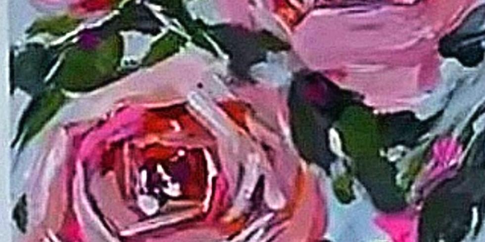 Розы. Живопись акрилом для начинающих