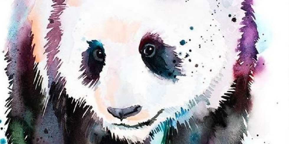Мастер-класс по акварели Панда