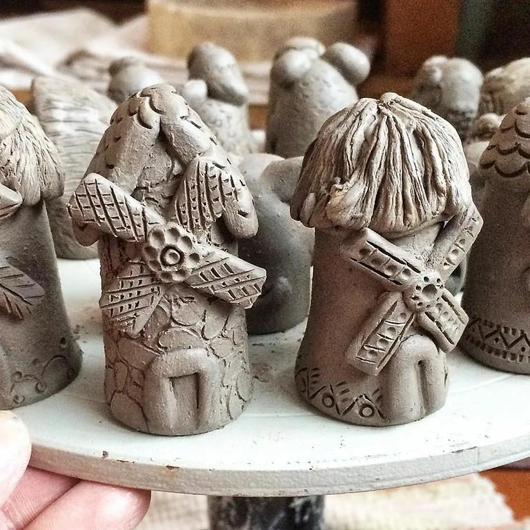 """Мастер-класс для взрослых и детей по лепке из глины.  """"Мельница"""""""