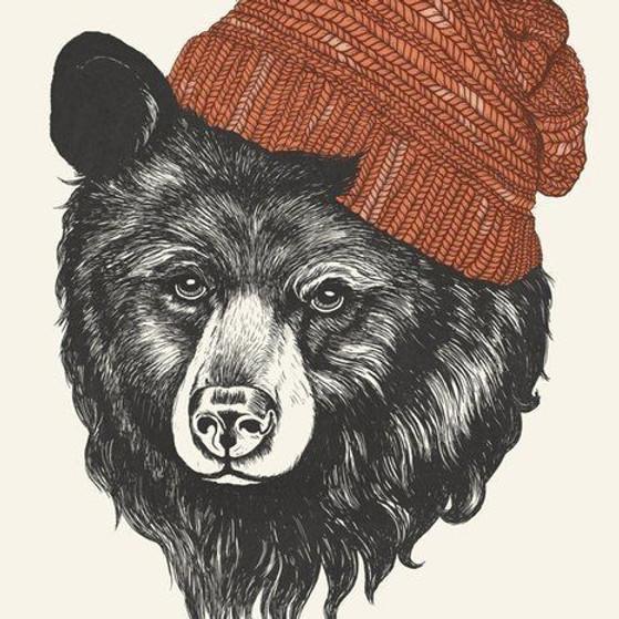 """Мастер-класс. Графика. Для взрослых и детей от 12 лет   """"Медведь"""""""