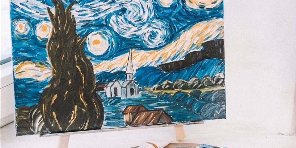Мастер-класс по живописи маслом по мотивам Ван Гога