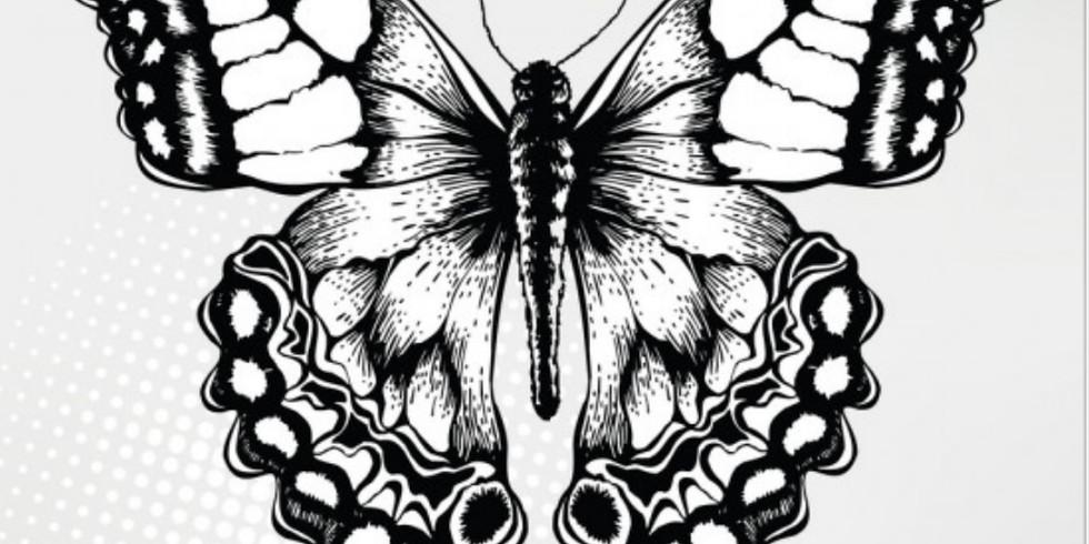 "Мастер-класс по графике ""Стилизация бабочки"""