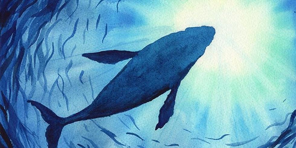 Мастер-класс по живописи акварелью Синее море
