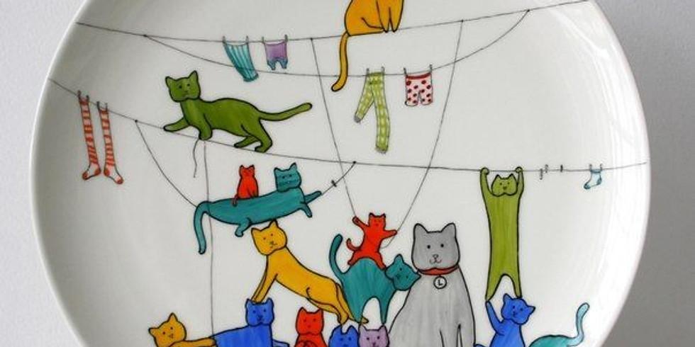 Мастер-класс по росписи тарелок для взрослых и детей с 7 лет