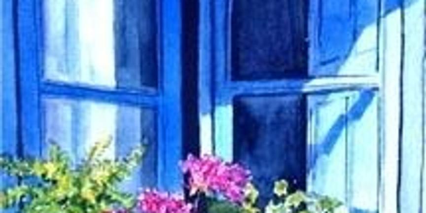 Мастер-класс по живописи акварелью Цветы на окне