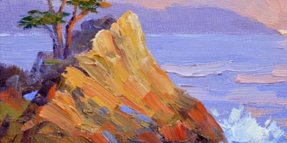 """Мастер-класс картина на холсте  """"Морское побережье"""""""