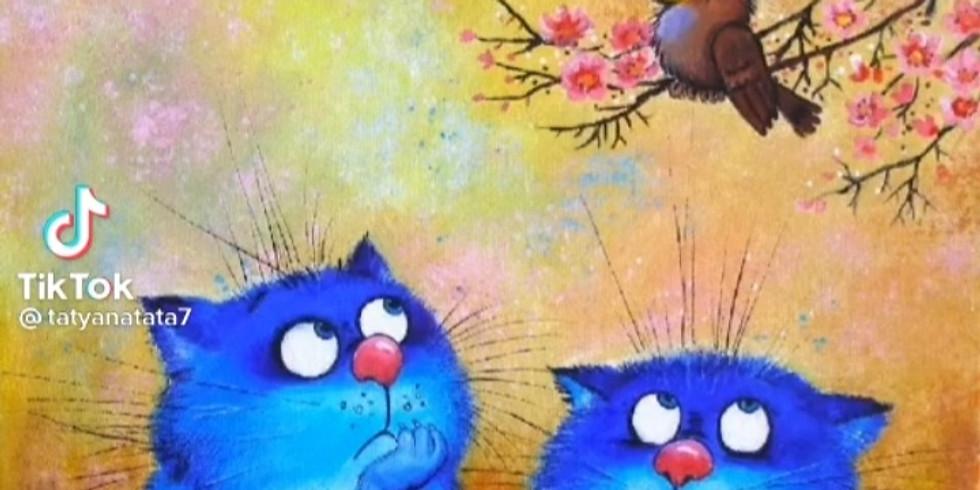 Мастер-класс для детей. Синие коты