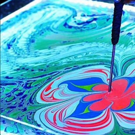 Мастер-класс по рисованию на воде