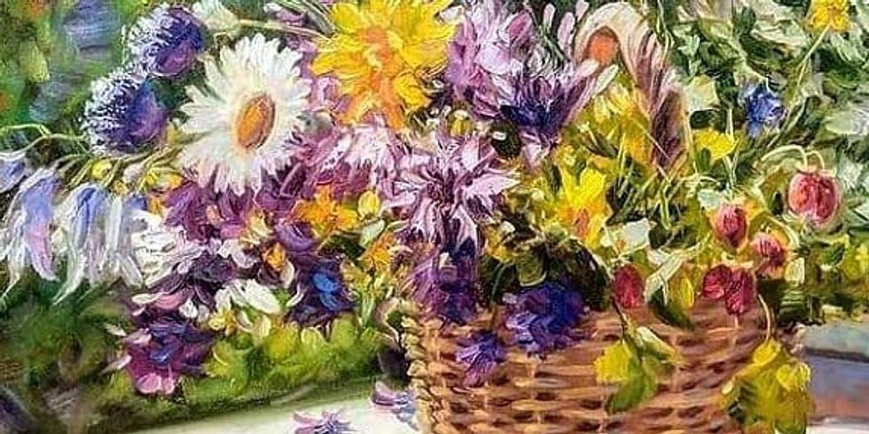 Цветы. Мастер-класс по живописи маслом с нуля для взрослых