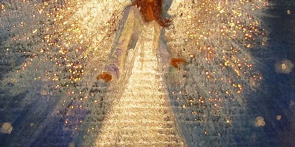 "Мастер-класс картина на холсте ""Ангел-хранитель"""