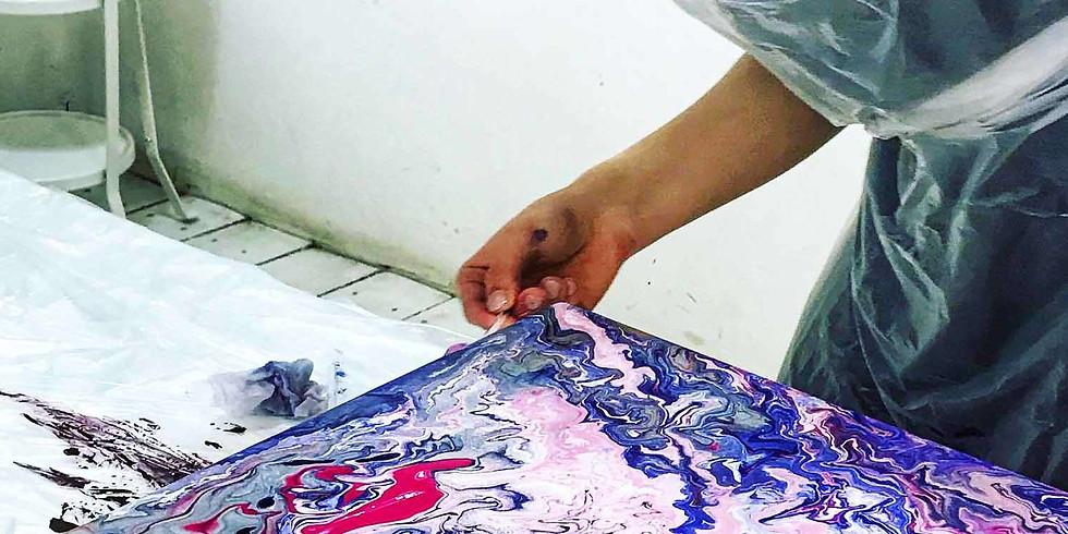 Мастер-класс по живописи жидким акрилом