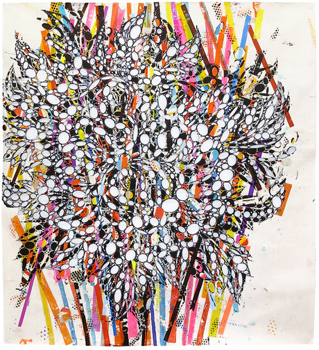 THE APE  Acrylic and collage on cut paper 76 x 72 inches 2014