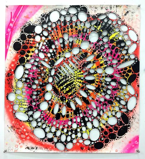 (painting, cut paper, printing, autopoiesis, autopoietic, pattern abstraction, floral art, color abstraction, abstract art, pattern, floral, contemporary art)