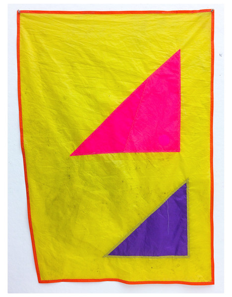 (kunstflag, banner, burgee, yacht, color abstraction, geometric, rip-stop nylon, minimalism, reed anderson textiles, pierogi gallery, reed anderson artist, reed anderson flags, gallery16)