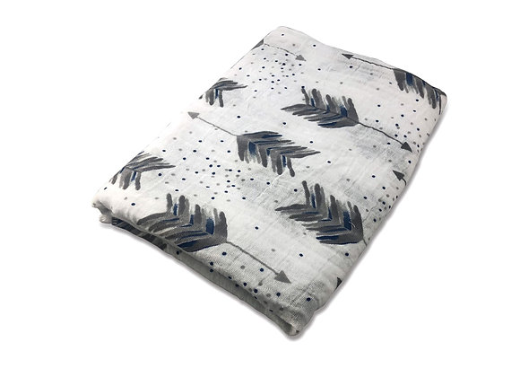 FEATHER ARROW BLUE SWADDLE
