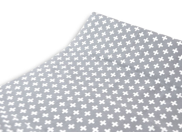 GREY CROSS CHANGING PAD COVER