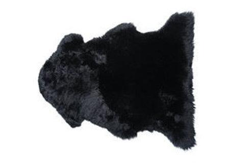 BLACK SINGLE PREMIUM SHEEPSKIN RUG