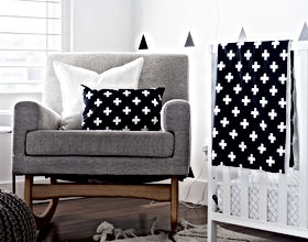 Modern Black and White Nursery Decor