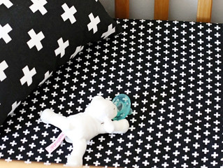 Neutral Nursery Reveal | O+L Black Cross Bedding Set Giveaway
