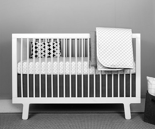 modern elephant crib bedding baby girl grid set