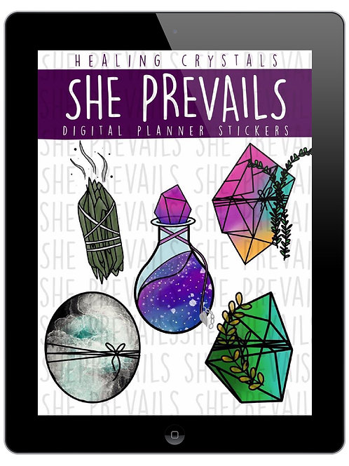 Healing Crystals Digital Stickers