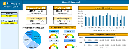 Excel dashboard example
