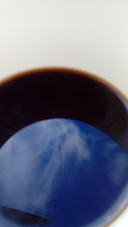 Sky in my coffee cup