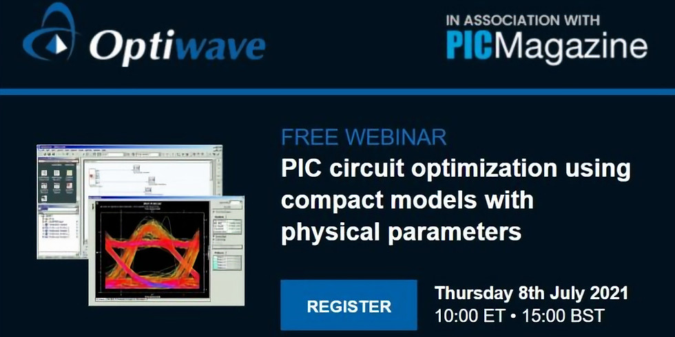 PIC circuit optimization using compact models with physical parameters