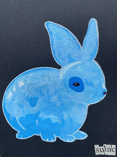"""Blue Bunny (6x8)"