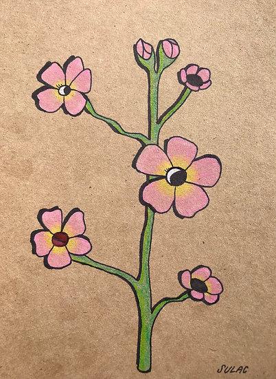 """""""Pink Flower Face"""" (6x8)"""