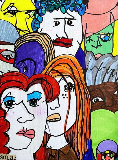 """Faces"" (9x12)"