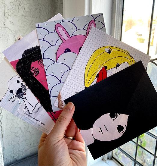 5 Mix-and-Match Postcard Set