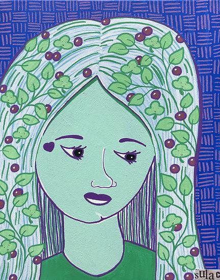 """Greta the Grape Girl"" 11x14"