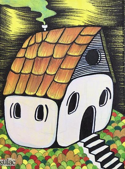 """""""Spooky House"""" (9x12)"""