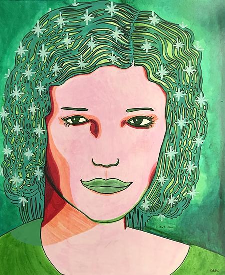 """Wilma the Watermelon Woman"" (11x14)"