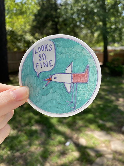 Looks So Fine Sticker