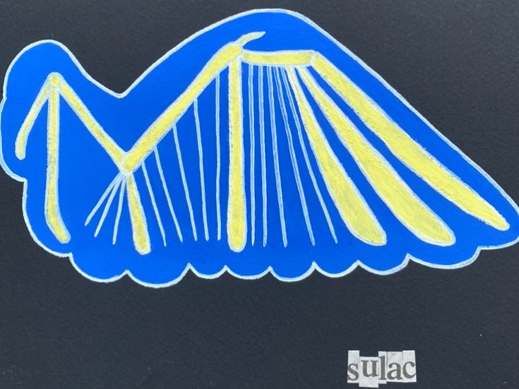 """Bird Wing"" (6x8)"