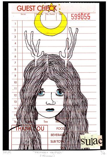 """Primary Triplet (yellow)"" (8x10) Print"