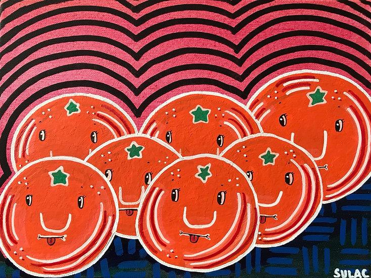 """""""Sour Oranges"""" (9x12)"""