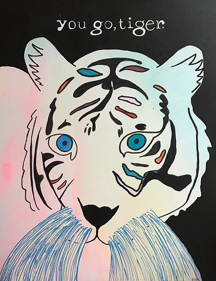 """You Go, Tiger"" (11x14) - Print"
