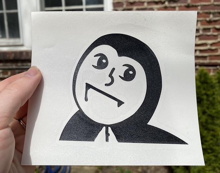 Baby Vampire Transfer Sticker
