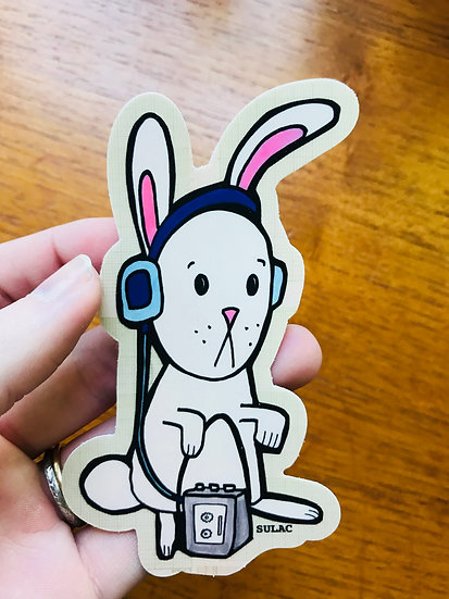 Hip-Hop Bunny Sticker