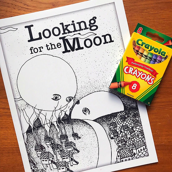 Looking for the Moon Coloring Book