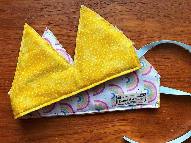 Yellow and Rainbow Crown