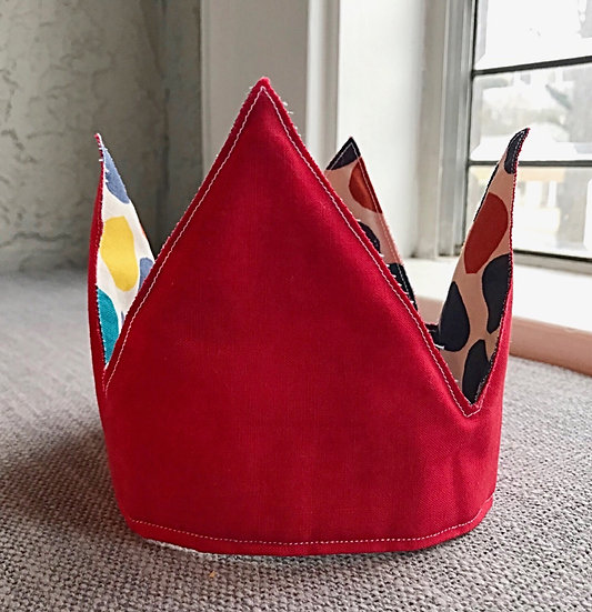 Red and Polka Dots Crown