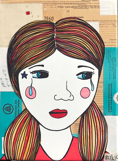 """""""Crying Hides the Sound"""" (8x10) - Print"""