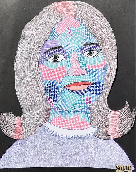 """""""Checker Cheeks"""" (11x14)"""