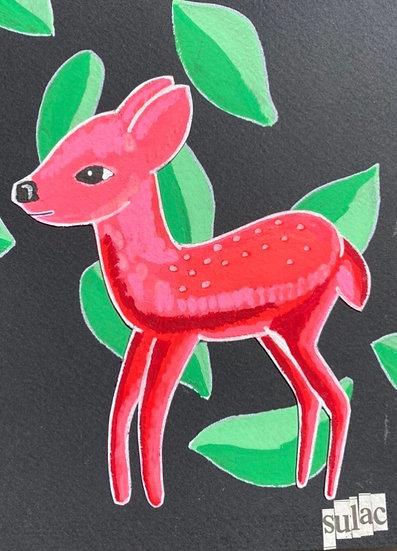 """""""Red Deer"""" (6x8)"""